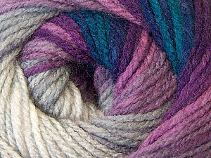 Fiber Content 100% Acrylic, White, Purple, Navy, Brand ICE, Grey, Blue, Yarn Thickness 3 Light  DK, Light, Worsted, fnt2-33053