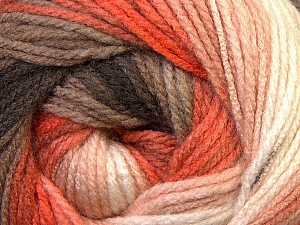Fiber Content 100% Acrylic, White, Orange, Brand ICE, Camel, Brown, Yarn Thickness 3 Light  DK, Light, Worsted, fnt2-33055