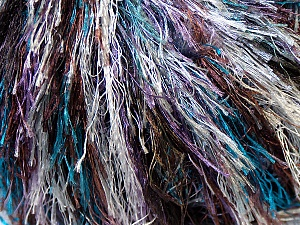 Fiber Content 100% Polyester, Silver, Lilac, Brand ICE, Brown, Blue, Yarn Thickness 5 Bulky  Chunky, Craft, Rug, fnt2-33977