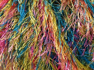 Fiber Content 100% Polyester, Yellow, Pink, Brand ICE, Green, Blue, Yarn Thickness 5 Bulky  Chunky, Craft, Rug, fnt2-33979