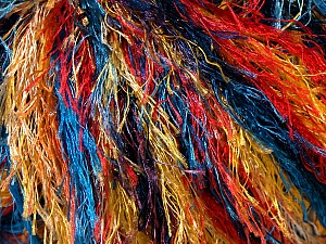Fiber Content 100% Polyester, Yellow, Red, Orange, Brand Ice Yarns, Blue, Yarn Thickness 5 Bulky  Chunky, Craft, Rug, fnt2-33980