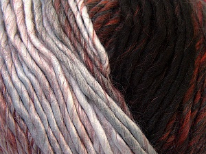 Fiber Content 60% Wool, 40% Acrylic, Brand ICE, Grey, Burgundy, Brown, Black, Yarn Thickness 4 Medium  Worsted, Afghan, Aran, fnt2-34603