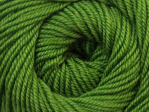 Fiber Content 100% Wool, Brand ICE, Green, Yarn Thickness 3 Light  DK, Light, Worsted, fnt2-34715