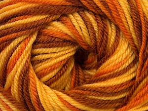 Fiber Content 100% Wool, Yellow, Orange, Brand ICE, Brown, Yarn Thickness 3 Light  DK, Light, Worsted, fnt2-34729
