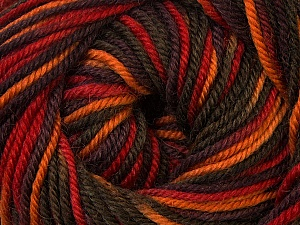 Fiber Content 100% Wool, Red, Orange, Khaki, Brand ICE, Brown, Yarn Thickness 3 Light  DK, Light, Worsted, fnt2-34730