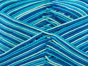 Ne: 8/4. Nm 14/4 Fiber Content 100% Mercerised Cotton, Turquoise, Brand Ice Yarns, Blue Shades, Yarn Thickness 2 Fine  Sport, Baby, fnt2-34757