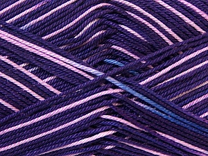 Ne: 8/4. Nm 14/4 Fiber Content 100% Mercerised Cotton, Purple Shades, Pink, Brand ICE, Yarn Thickness 2 Fine  Sport, Baby, fnt2-34767