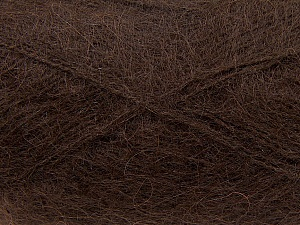 Fiber Content 70% Mohair, 30% Acrylic, Brand ICE, Brown, Yarn Thickness 3 Light  DK, Light, Worsted, fnt2-35049
