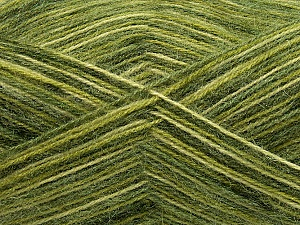 Fiber Content 70% Angora, 30% Acrylic, Brand ICE, Green Shades, Yarn Thickness 2 Fine  Sport, Baby, fnt2-35086