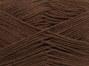 Fiber Content 100% Antibacterial Dralon, Brand ICE, Brown, Yarn Thickness 2 Fine  Sport, Baby, fnt2-35232
