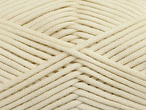 This is a tube-like yarn with soft fleece inside. Fiber Content 73% Viscose, 27% Polyester, Brand Ice Yarns, Cream, Yarn Thickness 5 Bulky  Chunky, Craft, Rug, fnt2-35599