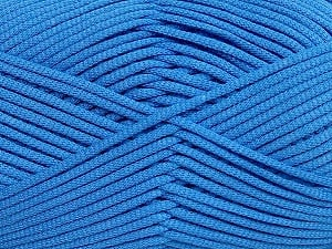This is a tube-like yarn with soft fleece inside. Fiber Content 73% Viscose, 27% Polyester, Brand ICE, Blue, Yarn Thickness 5 Bulky  Chunky, Craft, Rug, fnt2-35613