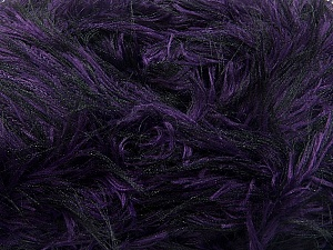 Fiber Content 100% Polyester, Purple, Brand ICE, Black, Yarn Thickness 5 Bulky  Chunky, Craft, Rug, fnt2-36727
