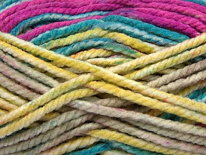Fiber Content 100% Acrylic, Yellow, Turquoise, Purple, Brand ICE, Camel, Yarn Thickness 6 SuperBulky  Bulky, Roving, fnt2-36969