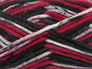 Fiber Content 100% Acrylic, Red, Brand ICE, Grey Shades, Black, Yarn Thickness 6 SuperBulky  Bulky, Roving, fnt2-36978