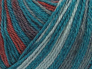 Fiber Content 40% Acrylic, 35% Wool, 25% Alpaca, Teal, Brand ICE, Grey, Copper, Yarn Thickness 2 Fine  Sport, Baby, fnt2-36989