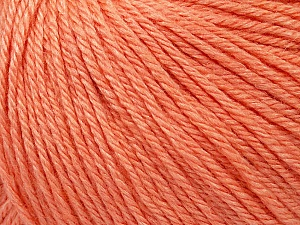Fiber Content 50% Silk, 30% Merino Superfine, 20% Cashmere, Salmon, Brand ICE, Yarn Thickness 3 Light  DK, Light, Worsted, fnt2-36997