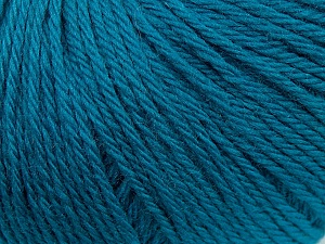 Fiber Content 100% Wool, Turquoise, Brand ICE, Yarn Thickness 4 Medium  Worsted, Afghan, Aran, fnt2-38018