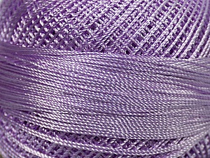 Fiber Content 100% Micro Fiber, Light Lilac, Brand ICE, Yarn Thickness 0 Lace  Fingering Crochet Thread, fnt2-39149