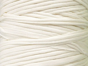 Make handbags,rugs,basket and cushion covers with this genius new-fashion yarn!<p>Since the yarn is made by upcycling fabrics, and because of the nature of the yarn; take the following notes into consideration. </p><ul><li>Width vary between 0,8 cm and 1,2 cm</li><li>Fiber content information may vary. Information given about fiber content is approximate. </li><li>The yardage and weight information of the yarn is approximate. </li></ul> Fiber Content 95% Cotton, 5% Elastan, Off White, Brand ICE, Yarn Thickness 6 SuperBulky  Bulky, Roving, fnt2-39997