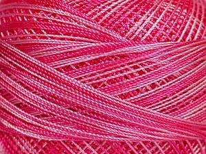Fiber Content 100% Micro Fiber, Pink Shades, Brand ICE, Yarn Thickness 0 Lace  Fingering Crochet Thread, fnt2-40206