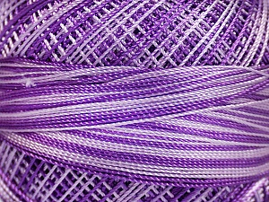 Fiber Content 100% Micro Fiber, Lilac Shades, Brand ICE, Yarn Thickness 0 Lace  Fingering Crochet Thread, fnt2-40210