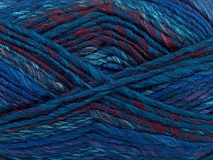 Fiber Content 75% Acrylic, 25% Wool, Purple, Navy, Brand ICE, Burgundy, Blue, Yarn Thickness 5 Bulky  Chunky, Craft, Rug, fnt2-40817