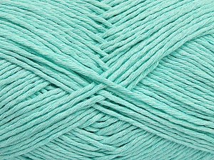 Please note that the yarn weight and the ball length may vary from one color to another for this yarn. Fiber Content 100% Cotton, Mint Green, Brand ICE, Yarn Thickness 3 Light  DK, Light, Worsted, fnt2-40914