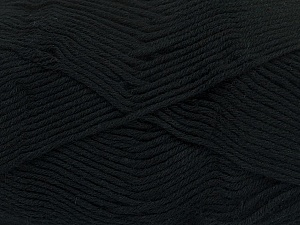 Fiber Content 50% Bamboo, 50% Cotton, Brand ICE, Black, Yarn Thickness 2 Fine  Sport, Baby, fnt2-41437