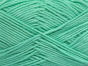 Fiber Content 50% Bamboo, 50% Cotton, Mint Green, Brand ICE, Yarn Thickness 2 Fine  Sport, Baby, fnt2-41446