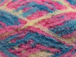 Fiber Content 100% Micro Fiber, Pink, Brand ICE, Cream, Blue, Yarn Thickness 5 Bulky  Chunky, Craft, Rug, fnt2-41773