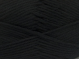 Fiber Content 50% Polyamide, 50% Acrylic, Brand ICE, Black, Yarn Thickness 3 Light  DK, Light, Worsted, fnt2-42368