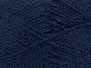 Fiber Content 50% Polyamide, 50% Acrylic, Navy, Brand ICE, Yarn Thickness 3 Light  DK, Light, Worsted, fnt2-42373