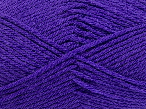 Fiber Content 50% Polyamide, 50% Acrylic, Purple, Brand ICE, Yarn Thickness 3 Light  DK, Light, Worsted, fnt2-42375