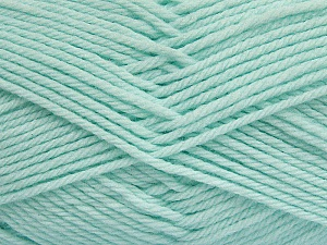 Fiber Content 50% Polyamide, 50% Acrylic, Light Mint Green, Brand ICE, Yarn Thickness 3 Light  DK, Light, Worsted, fnt2-42385