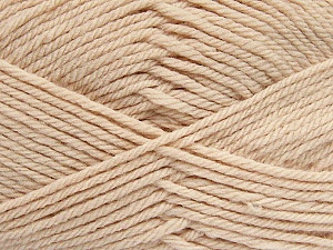 Fiber Content 50% Polyamide, 50% Acrylic, Light Beige, Brand ICE, Yarn Thickness 3 Light  DK, Light, Worsted, fnt2-42388