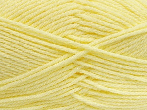 Fiber Content 50% Polyamide, 50% Acrylic, Brand ICE, Baby Yellow, Yarn Thickness 3 Light  DK, Light, Worsted, fnt2-42389
