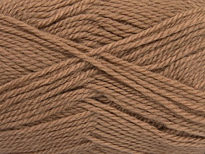 Fiber Content 50% Acrylic, 30% Wool, 20% Polyamide, Brand ICE, Camel, Yarn Thickness 2 Fine  Sport, Baby, fnt2-42411