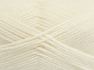Fiber Content 50% Acrylic, 30% Wool, 20% Polyamide, Off White, Brand ICE, Yarn Thickness 2 Fine  Sport, Baby, fnt2-42415