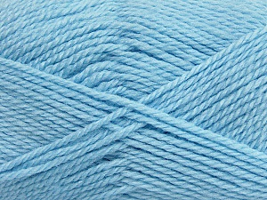 Fiber Content 50% Acrylic, 30% Wool, 20% Polyamide, Brand Ice Yarns, Baby Blue, Yarn Thickness 2 Fine  Sport, Baby, fnt2-42422
