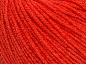SUPERWASH MERINO is a worsted weight 100% superwash merino yarn available in 47 beautiful colors. Marvelous hand, perfect stitch definition, and a soft-but-sturdy finished fabric. Projects knit and crocheted in SUPERWASH MERINO are machine washable! Lay flat to dry. Fiber Content 100% Superwash Merino Wool, Salmon, Brand ICE, Yarn Thickness 4 Medium  Worsted, Afghan, Aran, fnt2-42468