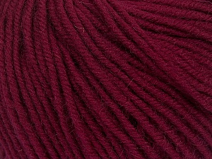 SUPERWASH MERINO is a worsted weight 100% superwash merino yarn available in 47 beautiful colors. Marvelous hand, perfect stitch definition, and a soft-but-sturdy finished fabric. Projects knit and crocheted in SUPERWASH MERINO are machine washable! Lay flat to dry. Fiber Content 100% Superwash Merino Wool, Brand ICE, Burgundy, Yarn Thickness 4 Medium  Worsted, Afghan, Aran, fnt2-42475