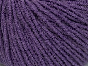 SUPERWASH MERINO is a worsted weight 100% superwash merino yarn available in 47 beautiful colors. Marvelous hand, perfect stitch definition, and a soft-but-sturdy finished fabric. Projects knit and crocheted in SUPERWASH MERINO are machine washable! Lay flat to dry. Fiber Content 100% Superwash Merino Wool, Lilac, Brand ICE, Yarn Thickness 4 Medium  Worsted, Afghan, Aran, fnt2-42481