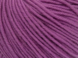 SUPERWASH MERINO is a worsted weight 100% superwash merino yarn available in 47 beautiful colors. Marvelous hand, perfect stitch definition, and a soft-but-sturdy finished fabric. Projects knit and crocheted in SUPERWASH MERINO are machine washable! Lay flat to dry. Fiber Content 100% Superwash Merino Wool, Orchid, Brand ICE, Yarn Thickness 4 Medium  Worsted, Afghan, Aran, fnt2-42482