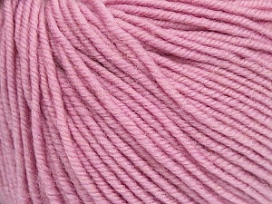 SUPERWASH MERINO is a worsted weight 100% superwash merino yarn available in 47 beautiful colors. Marvelous hand, perfect stitch definition, and a soft-but-sturdy finished fabric. Projects knit and crocheted in SUPERWASH MERINO are machine washable! Lay flat to dry. Fiber Content 100% Superwash Merino Wool, Light Pink, Brand ICE, Yarn Thickness 4 Medium  Worsted, Afghan, Aran, fnt2-42484
