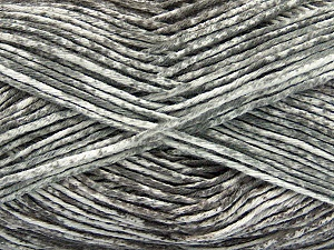 Strong pure cotton yarn in beautiful colours, reminiscent of bleached denim. Machine washable and dryable. Fiber Content 100% Cotton, White, Light Grey, Brand Ice Yarns, Yarn Thickness 3 Light  DK, Light, Worsted, fnt2-42556