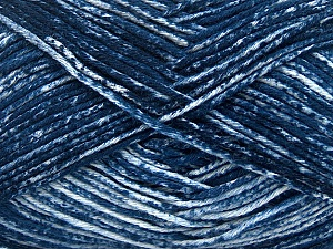 Strong pure cotton yarn in beautiful colours, reminiscent of bleached denim. Machine washable and dryable. Fiber Content 100% Cotton, White, Navy, Brand Ice Yarns, Yarn Thickness 3 Light  DK, Light, Worsted, fnt2-42572