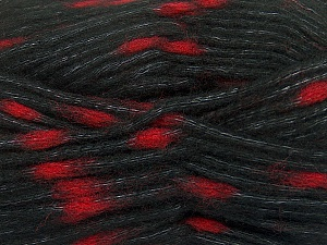 Make a knot on the spots part of the yarn while knitting to give a pompom look. Fiber Content 82% Acrylic, 18% Polyamide, Red, Brand Ice Yarns, Black, Yarn Thickness 5 Bulky  Chunky, Craft, Rug, fnt2-42694