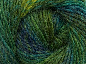 Fiber Content 70% Dralon, 30% Wool, Brand ICE, Green Shades, Blue, Yarn Thickness 4 Medium  Worsted, Afghan, Aran, fnt2-42699