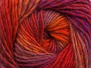 Fiber Content 70% Dralon, 30% Wool, Purple Shades, Orange Shades, Brand ICE, Yarn Thickness 4 Medium  Worsted, Afghan, Aran, fnt2-42702